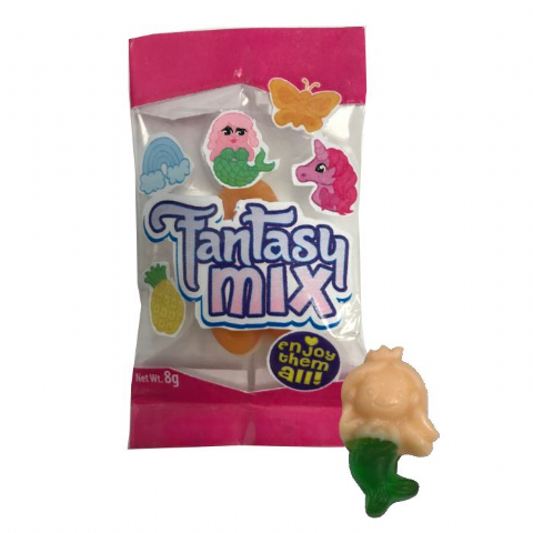Fantasy Mix - Mini  Gummy Gummies Sweets Novelty Candy Rose Confectionery 8g